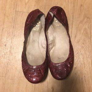 Vince Camuto red python flats